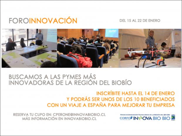 Inscríbete en los Foros de Innovación para Pymes de la región del Biobío