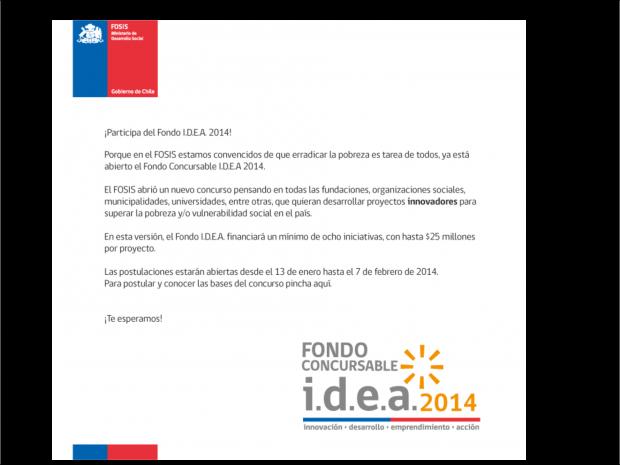 Convocatoria del Fondo I.D.E.A. 2014