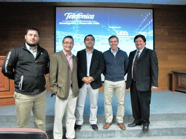 Telefónica Chile invitó a alumnos y académicos UBB a presentar iniciativas innovadoras en su Centro de I+D