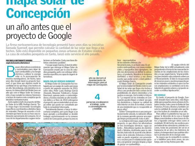 UBB se adelantó a Google con su proyecto Mapa Solar de Concepción