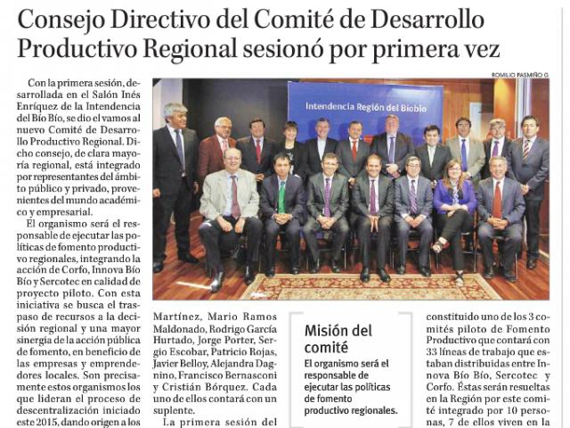 Consejo Directivo del Comité de Desarrollo Productivo Regional –que integra la UBB- sesionó por primera vez